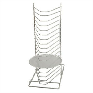 NEW Pizza Tray Rack Holder Bench Mounted Holds 18 Pizza Trays Pan Storage
