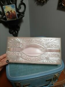 Tissue Box Holder Plastic Vintage Mcm Starburst USA Pink