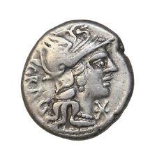 Ancient Roman Republic Coin L. Antestius Gragulus 136 Bc Ad Silver Denarius