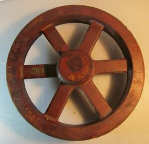 Vintage STEAMPUNK Wooden Industrial Foundry Mold Casting - Red Spoked Wheel 1346