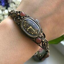 Mecánico 1800 Piedra Natural Marrón Raro Reloj de Pulsera Luch Mujeres Luminoso