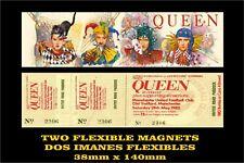 Queen - Innuendo / Ticket  2 IMANES 2 MAGNETS