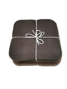 Fleece Baby Wipes Charcoal Colour Reusable & Washable x10