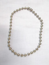 """BOLD ROCKER HEAVY METAL BALL CHAIN CHROME SILVER COLOR 10mm 18"""" NECKLACE JEWELRY"""