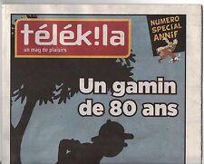 Revue sur Tintin. Télék la. Un gamin de 80 ans. N° spécial janvier 2009