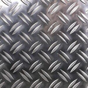Alu Riffelblech Stärke 5,0/6,5mm Duett Warzenblech Zuschnitt nach Maß