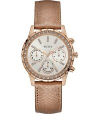 AUTHENTIC GUESS LADIES' MELODY ROSE GOLD TONE WATCH W0903L3 RRP:$379 Brand New