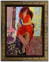 Mahmoud SABZI Original OIL PAINTING on CANVAS Female Signed Large Framed Artwork