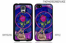 Disney Beauty and the Beast Stained Glass Rose Apple or Samsung Phone Case