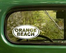 2 ORANGE BEACH STICKERs Oval Alabama Decal For Bumper Truck Car Window Rv
