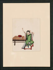 """Chinese Lady in Jade Robe"" Original Gouache on Rice Paper!~"