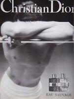 PUBLICITÉ DE PRESSE 1989 CHRISTIAN DIOR EAU SAUVAGE - ADVERTISING