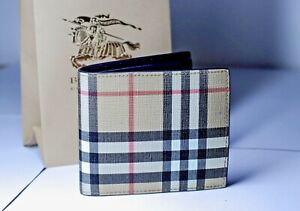 Burberry Vintage Check E-canvas International Bifold Wallet RRP: 330$