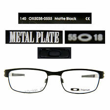 Oakley METAL PLATE OX5038-0555 Matte Black Titanium Eyeglasses - New