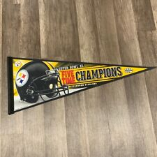 Sports Pennant flag vtg NFL football Pittsburgh Steelers 5 five time champions