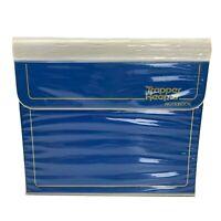 Vintage Mead Trapper Keeper 1980's 3 Ring Binder Folder Portfolio Blue 29096