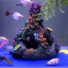 Fish Tank Corals Rock Cave Ornaments Decorations Resin Aquarium Artificial Coral