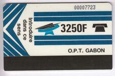 AFRIQUE TELECARTE / PHONECARD .. GABON 3250F AUTELCA 0 S/B V° MACHINE COURRIER