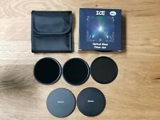 ICE 62mm 3 Filter Set ND1000 ND64 ND8 Neutral Density Optical Glass Thin