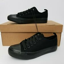 Twisted Womens Hunter Canvas Fashion Sneakers Black Size 6 Lace Up New