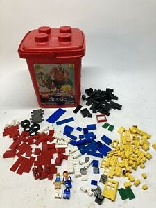 Lego and Lego #4288 Classic Red Plastic Storage Bucket Container Lid Handle