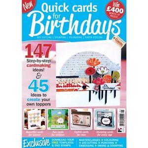 Quick Cards for Birthdays Magazine        RRP £7.99