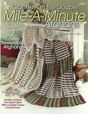 Mile a Minute Afghans Reversible Crochet on the Double Crochetnit Patterns NEW