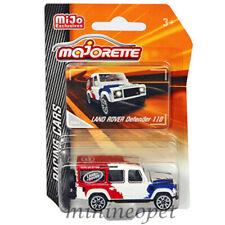 MAJORETTE 4009MJ1 RACING CARS LAND ROVER DEFENDER 110 1/57 - 1/64 RD / WHT / BLU