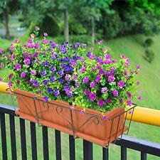 Fake Prupel Flowers Plants Fake For Decoration Outdoor Uv Resistant /Indoor-6Pcs