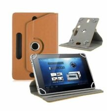 """360°Folio Leather Case Cover For Universal Android Tablet PC 7""""8""""9""""10""""10.1""""Brown"""