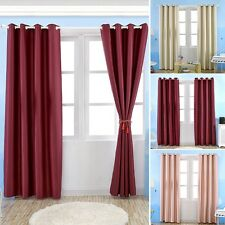 1PC Blackout Curtain Window Balcony Valance Eyelet Drape Home Screen Solid Color