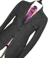 BRAND NEW MENS ARMANI COLLEZIONI TWEED SHOOTING SAFARI STYLE SUIT JACKET 44/ 46L