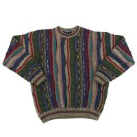Vintage 90s Cotton Traders Coogi Style Biggie Wool Blend Sweater Mens Sz Medium