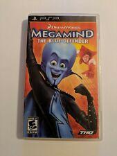 MEGAMIND THE BLUE DEFENDER SONY PLAYSTATION PORTABLE PSP COMPLETE VIDEO GAME