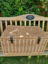 Large Wicker Picnic Basket Or Storage - Used Good Condition