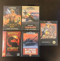 Sega Genesis Empty Case Lot - 5 Game Cases Only, No Games or Manuals