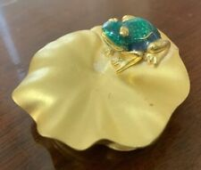 1995 Estee Lauder Knowing Solid Perfume in Fabulous Frog Compact Free Shipping