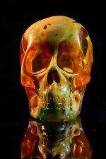 Skull sculpture, multi coloured, Modern Art, Gift, Ornament.