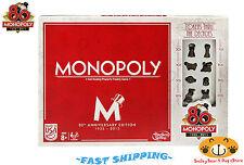 Hasbro Monopoly 80th (1935-2015) Anniversary Edition 8 Tokens (1930s-2000s) NEW!