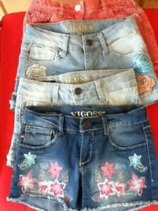 4 Beautiful Pairs Of Girls Shorts New Without Tags Age 7