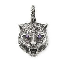 Gucci YBG523418001 Feline Silver 16mm Charm Jewelry