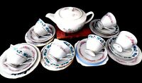 Molly - Pretty 19 Piece Vintage Shabby Chic Floral Mismatch China Tea Set