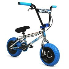 Fatboy Mini BMX Pro Tomahawk Chrome Blue Freestyle Bike 3-pc crank All New 2021