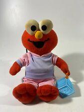 """11"""" Fisher Price 2005 ELMO  Sesame Street Plush White Diaper Teether Stuffed Toy"""
