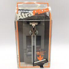 Gillette Atra Plus Metal Razor Cartridge Vintage Handle Shaver Refill Twin Blade