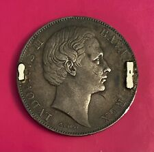 Foreign Silver Coin - 1865-71 - 1 Thaler -German States Bavaria -VF (Ludwig II)