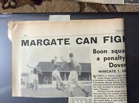 H5-1 ephemera 1961 picture article margate 1 dover 1 football match report 17/1/