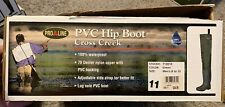 Pro Line Cross Creek PVC Hip Boot 71301X Green Size 11 Fishing Hunting
