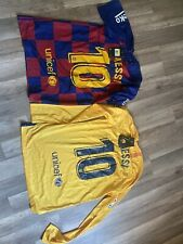 Messi Barcelona Jerseys. Blue Us An Adult Small. Yellow Is An Adult Medium. Nwt