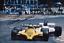 Marc Surer  & David Kennedy SIGNED 12x8,  French Grand Prix Paul Ricard 1980